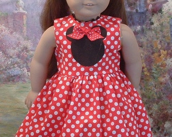 Little Mouseketeer Dress, Mouse Hat, and Shoes for American Girl Dolls