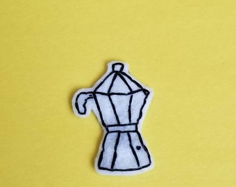 Espresso Hand Embroidered Patch