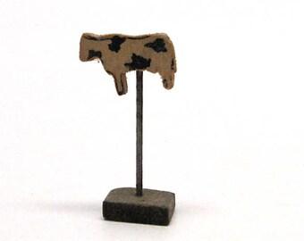Dollhouse Primitive Cow Decor, Folk Art, Farm House, Miniature, Plantation, Hobby, Craft, 1:12 Scale