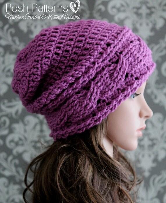 Crochet PATTERN Slouchy Hat Crochet Pattern Crochet
