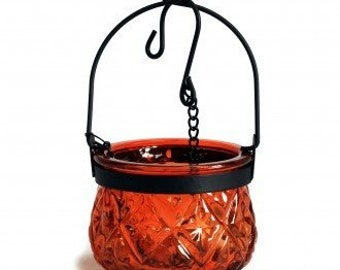 Hanging candle lantern-Amber color