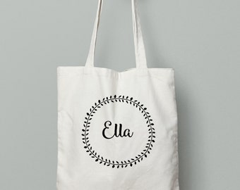Custom Name Tote Bag, tote bag, name tote bag, wedding party tote, wedding favor, bridal party
