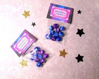 """American Food 18"""" Girl Doll Space Galaxy Gum for Luciana Vega Candy Doll Accessory Celestial Stars Outer Space Themed Candy Shop Bag"""