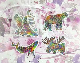 Alaskan Wildlife Trio - Vinyl Sticker Pack