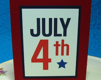 July 4th, Patriotic, Red, White, Blue (#150)