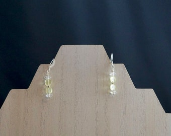 Peridot and Crystal Earrings