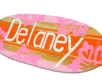 Personalized Name Sign for your Baby Nursery Decor - 18 inch Surfboard