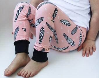Organic Baby Girl Leggings - Baby Girl Pants - Hipster Girl Pants - Girls Clothing - Toddler Girl - Girls Leggings - Hipster Baby Clothes