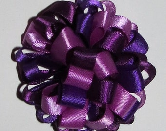 Purple Lovers Loopy Puff Bow