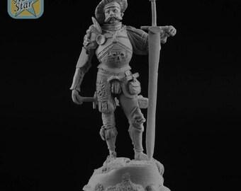 54mm Landsknecht figure with resin base