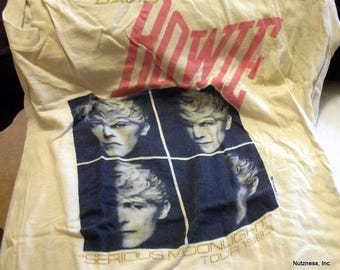 Official David Bowie Serious Moonlight Tour Tank Style T-Shirt