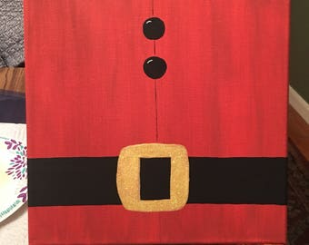 10x10 Santa's Belt Acrylic Painting on Canvas
