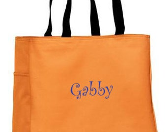 Personalized Tote Bag, Bridesmaid Bag, Monogrammed Tote for Bridesmaids, Destination Wedding Tote, Bridesmaid Tote, Many Colors