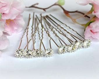 Bridal Hair Pins Crystal Wedding Hair Accessories Diamond Hair pieces Bridal jewelry