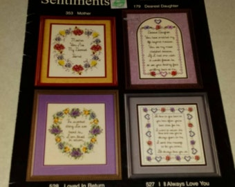 Cross Stitch Designs Booklet Treasured Sentiments