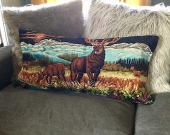 Vintage Velvet Tapestry Rug Pillow