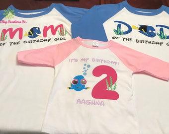 Adult Finding Dory Birthday Shirt - Raglan or T-Shirt