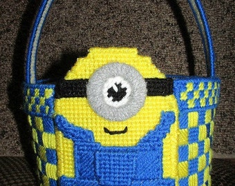 Minion Minions Inspired Easter Basket Plastic Canvas Pattern