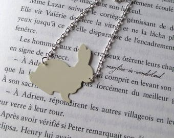 White Rabbit 'The rabbit from Alice' necklace