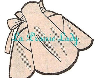 Repro Vintage Apron 50's One Yard Fabric PDF Pattern No 7 Available in M-L-XL