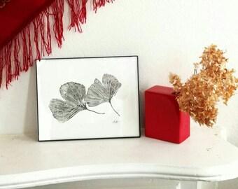 Ginkgo Leaf Print