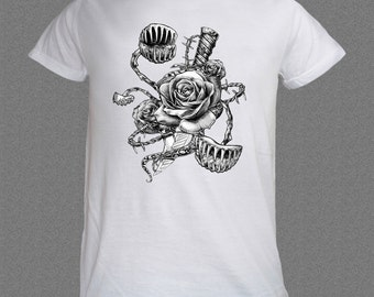 Flower Rose Fly Trap Dagger Nature funny T-shirt