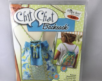 Chit Chat Backsack Pattern/Backpack Pattern/Hope Sew Patterns/Hope Yoder/Pattern