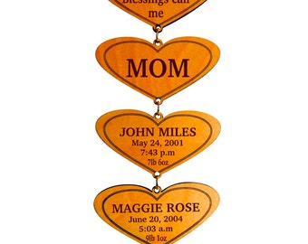 Personalized Gift for Mom - Mothers Day Gifts from Daughter - My Greatest Blessings call me Mom - Mom Birthday Gift - Plaque
