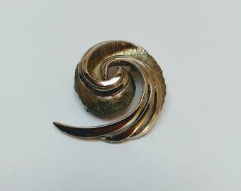 Vintage silver tone Sphinx brooch