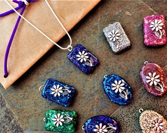 Mystery Grab Bag, Grab Bag Jewelry, Grab Bag Items, Resin Necklace Flower, Silver Flower Necklace, Surprise For Her, Surprise Gift