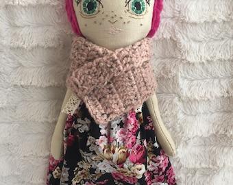Handmade doll , heirloom doll .