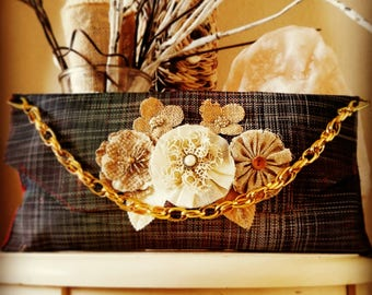 Beautiful matted clutch purse.