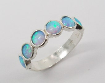 Opal sterling silver ring . birthday gift for her , romantic gift ideas , opal silver jewelry . opal jewelry