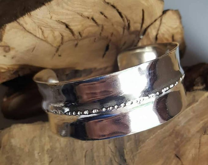 Fine Silver Fold Formed Cuff Bracelet as Seen on Fuller House