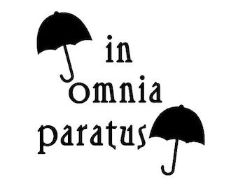 Gilmore Girls In Omnia Paratus Iron-on Heat Transfer Vinyl for T-Shirt, Sweatshirt, Shirt