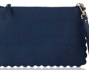 Scalloped Zip Pouch