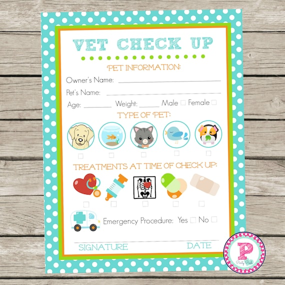 Adopt a Pet Vet Checkup Birthday Party Ideas Polka Dot