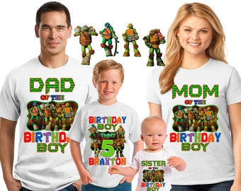 Teenage Mutant Ninja Turtles Birthday shirt/ninja turtle shirt/ ninja turtle birthday boy shirt/ birthday boy / Family matching shirts/EFT-5
