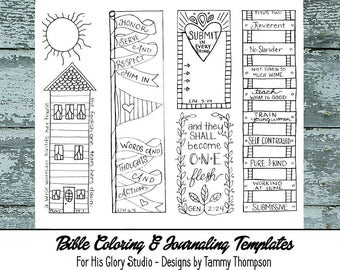 A Wise Woman  - #24 - bible journaling, black and white, PDF, sketches, bookmarks, coloring, bible verses, journaling, margin templates