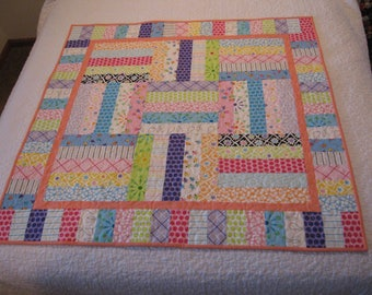 Modern Baby Quilt, Handmade Baby Quilt, Modern Baby Gift, Baby Shower Gift, Newborn Gift, Holiday Baby Gift, Matching Baby Quilts