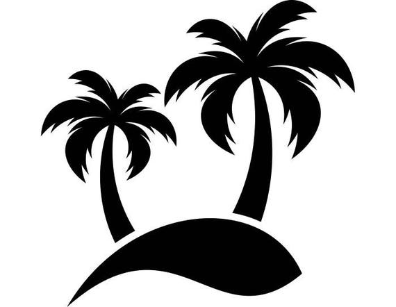 palm tree 1 nature garden plant beach paradise sun tropical rh etsy com Palm Leaves Vector Palm Tree Island Drawing