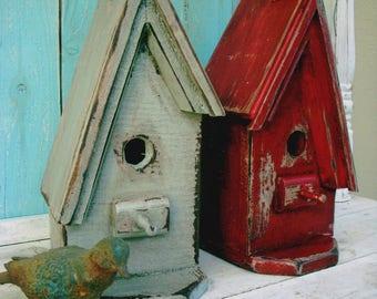 A Frame Birdhouse Wood, Bird House Handmade, Birdhouses Reclaimed Wood, Home Decor Gifts Hostess, for Her, for Women, Bath, Bathroom Decor
