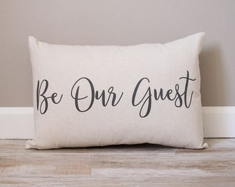 be our guest pillow Be Our Guest Pillow Personalized Pillows Housewarming Gift be our guest pillow