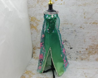 Barbie Gown  Rhinestones and cape fashions Outfit 11 inch doll