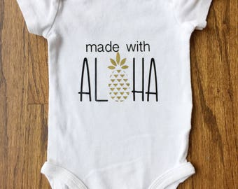 Hawaii ONESIE® | Aloha  ONESIE® | Hawaiian baby | Hawaiian baby gift | Hawaii baby shirt | Hawaii baby bodysuit