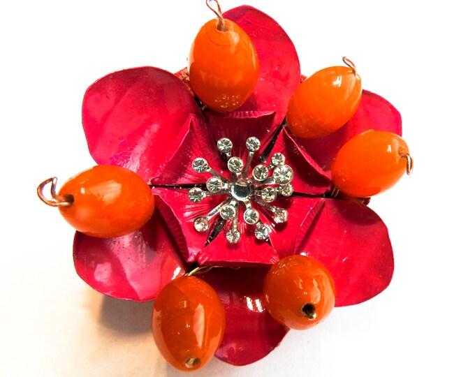 Handmade brooches pins amaranth pink