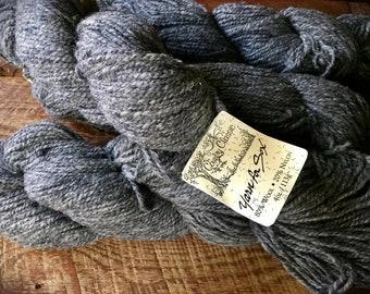 Yarn for socks - worsted weight wool sock yarn, yarn for sox, medium gray sock yarn, knitting