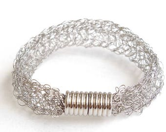 Stainless steel bracelet steel crochet bracelet