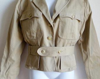 Alaia cotton safari style jacket with belt