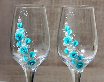 Wedding Glasses, Champagne Glasses, Wedding Flutes, Wedding Decor, Wedding Gift